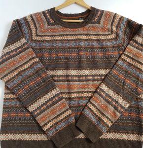 Haggar vintage Fair Isle pattern sweater